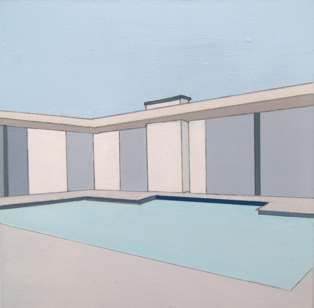 "House with Pool | 6""x6"" 